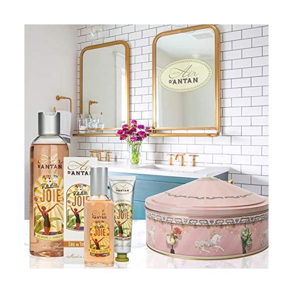 Un Air d'Antan Caja Belleza Joie Mujer,1 Colonia 55ml,1 Gel Ducha 250ml,1 Crema de Manos Reparadora 25ml, Perfume Lirio…