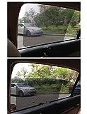 1pares 35cm * 42cm tamaño coche automáticamente retráctil cortinas Protector solar Bloqueador solar automático de persianas coche Parasol adhesivo, negro # -5191