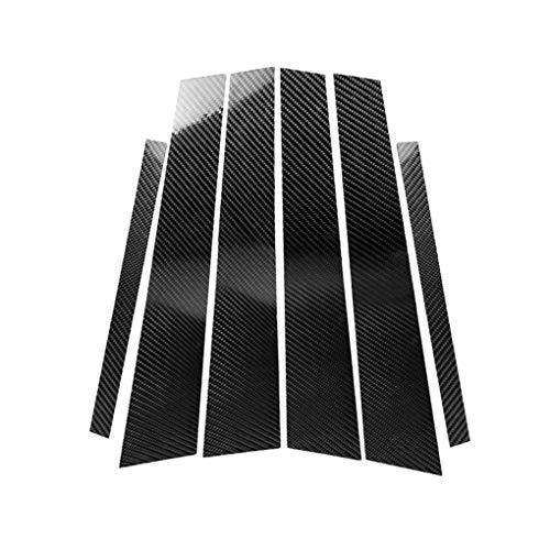 Demino 6pcs / Set Finestra di Automobile Colonna B Colonna Sostituzione di Copertura in Fibra di Carbonio Sticker per BMW Serie 3 E46 2008-2013