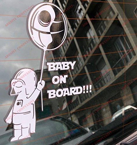 Aufkleber Star Wars Darth Vader Baby on Board für Auto Star Wars Darth Vader