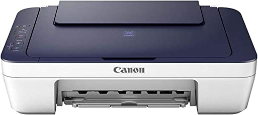 Canon Pixma E477 All-in-One Wireless Ink Efficient Colour Printer (White/Blue)