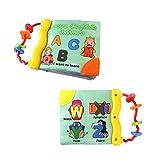 Libro para las primeras palabras del bebé, tela suave, libro de cognición para aprendizaje y actividades, juguete para educación prematura (letras)