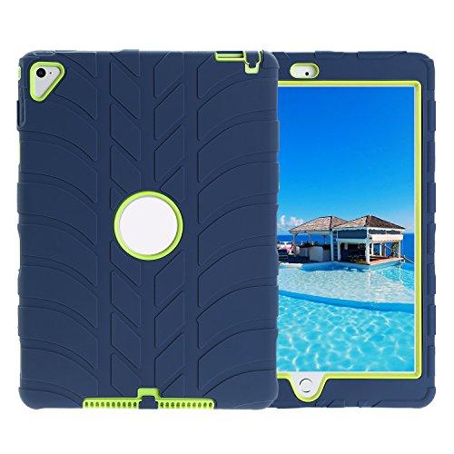 TKOOFN Ibrida Armatura Custodia in Silicone Forma di Battistrada Cover Protettivo per iPad Air2 (Slittamento Forme)