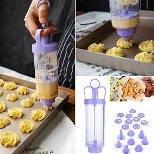 AmyGline Backwerkzeuge Zubehör Kuchen Keksform Kekspresse Herstellung Pistole Keksmaschine Cookies Nähfuß Lingsform Kit