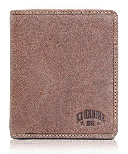 """Herren-usa 10 (Klondike 1896 Geldbörse aus echtem Leder """"Finn"""", hochwertiges Echtleder Portemonnaie für Damen und Herren, braun)"""