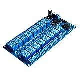 Boladge Modulo scheda pilota modulo modulare a 16 canali da 5V / 12V con optocoupler per Arduino Lampone Pi 51 AVR ARM PIC (12V)