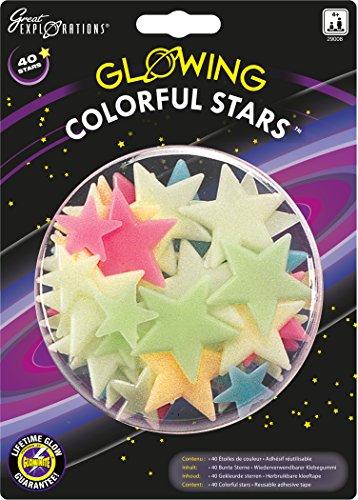 University Games 29008 - Colorful Stars, leuchtenden Sterne und Planeten für die (Kit Deko Grüne)