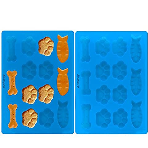 Mini Muffin Tray, Ankway Reusable Silicone Bakeware Set 3 Shapes 14-Cup Baking Cups, Non-Stick/BPA Free (Pack of 2)