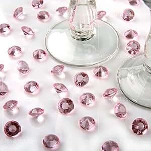 Wocharm (TM) 5000 4.5 mm Diamond Scatter Crystals Wedding Table Decoration (Pink)