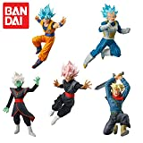 DRAGON BALL SUPER Complete Set 5 FIGURES Battle Figures SERIES 01 Bandai Gashapon DRAGONBALL