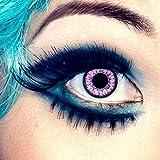 aricona Farblinsen farbige Kontaktlinsen mit Stärke pinke 12 Monatslinsen | natürliche Jahreslinsen für Big Eyes | bunte Contact Lenses für dein Cosplay Kostüm | - 0,5 Dioptrien