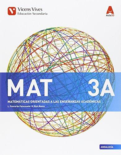 MAT 3 A ANDALUCIA (AULA 3D): 000001 - 9788468239255