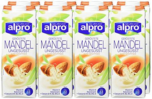 Alpro geröstete Mandeldrink ungesüßt, 8er Pack (8 x 1 l) - 2