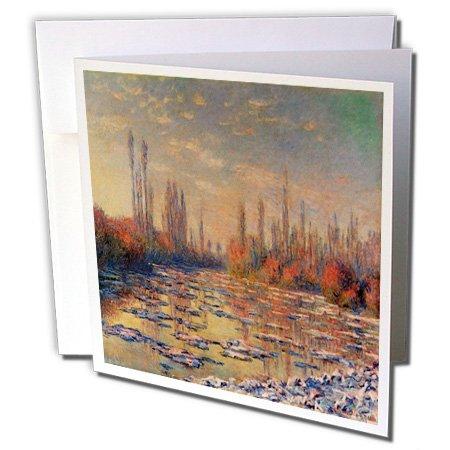 Les glacons, 1880von Claude Monet Iced River in Winter-Grußkarten, 15,2x 15,2cm, Set 12(GC 180236_ 2) -