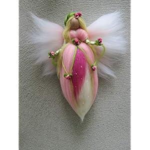 Gefilzte Fee, Blumenfee/Wiegenfee, Engel, Waldorf, Wolle, Wollfee toll für Jahreszeitentisch, Märchenwolle
