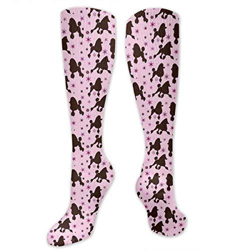 CVDGSAD Women's Winter Cotton Long Tube Socks Knee High Graduated Compression Socks Rainbow Lion Poodle Star Socks