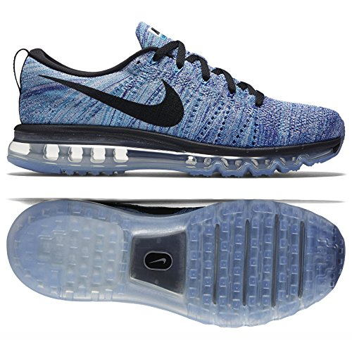 Nike Flyknit Max, Scarpe da Corsa Uomo Bianco (Blanco (Blanco (White/Black-Chlrn Blue-Cncrd)))