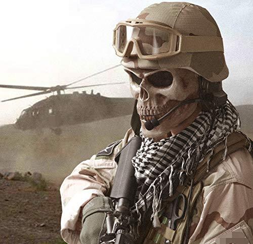 ema Krieg Zubehör - Zombie War Corps/Kriegsmaschine Grausam Walking Dead All-Face-Maske 16 * 17 cm Horror Leichte Maske * 1 Stück, Design für Söldnerliebhaber/The Seal Lover / ()