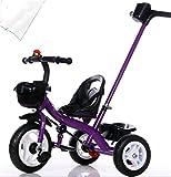 Sillas De Paseo Para Niños Triciclo Bicicleta Bebé Carros De Bebé Bicicleta Infantil Rueda Neumática,Purple
