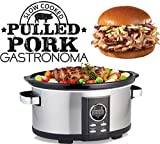Gastronoma 16280022 Digitaler Pulled Pork Slow Cooker Schongarer