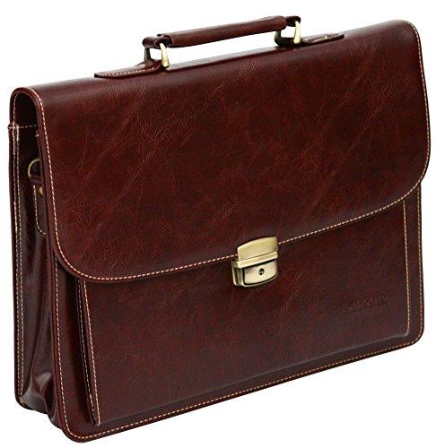 633ba3e4a9 Borsa da ufficio porta laptop con tracolla – pelle sintetica – TravelKit