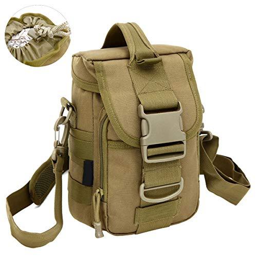 Selighting Taktisch Umhängetasche Wasserdicht Militiär Schultertasche Crossbody Kamera Tasche für Outdoor Camping Trekking Wandern Reise (Braun)