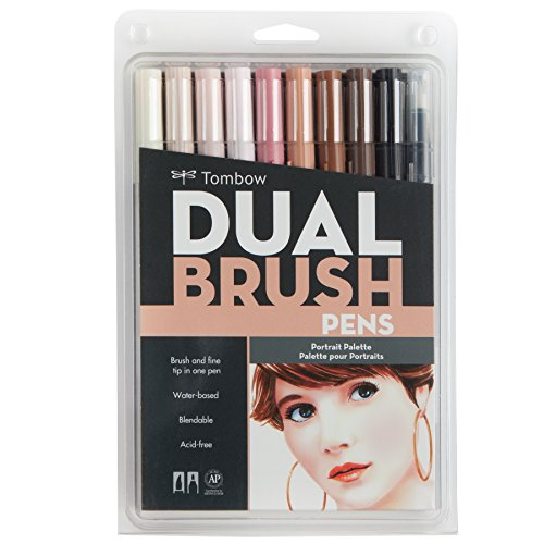Tombow Dual Brush Markers 10/Pkg-Portrait - Double Ended Duo