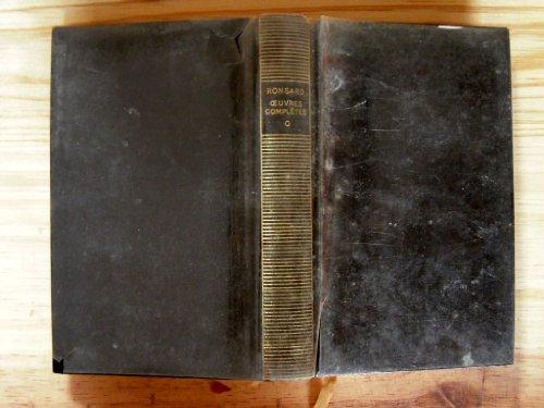 RONSARD OEUVRES COMPLETES - TOME I. Avant-propos, notes, glossaire par Gustave COHEN. par RONSARD (DE) PIERRE