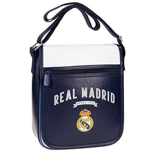Real Madrid Vintage Rm Umhängetasche, 24 cm, 2.88 liters, Blau (Azul) (Real Madrid Messenger Tasche)