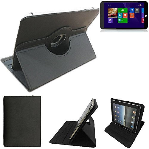 K-S-Trade Xoro Pad 9W4 Schutz Hülle 360° Tablet Case Schutzhülle Flip Cover für Xoro Pad 9W4, schwarz. Tablet Hülle drehbar Standfunktion Ultra Slim Bookstyle Tasche Kunstleder Qualitätsware