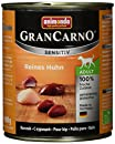 Animonda Gran Carno Hundefutter Adult Sensitiv, Nassfutter für ausgewachsene Hunde, Reines Huhn , 6 x 800 g