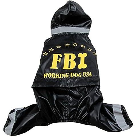 Et Costume Melbourne - Ranphy étanche FBI en vinyle à capuche