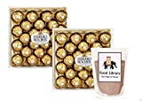 #8: Combo of Ferrero Rocher Chocolates Gift Box, 24 Count (Set of 2) + Food Library Drinking Chocolate Powder, 100g