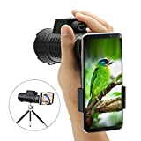 10x52 Monocular Scope, SGODDE Portable HD Spotting Scopes Optical Prism Telescope- with Hand Strap/Tripod and Universal Cell Phone Adapters for bird watching,Wildlife Viewing