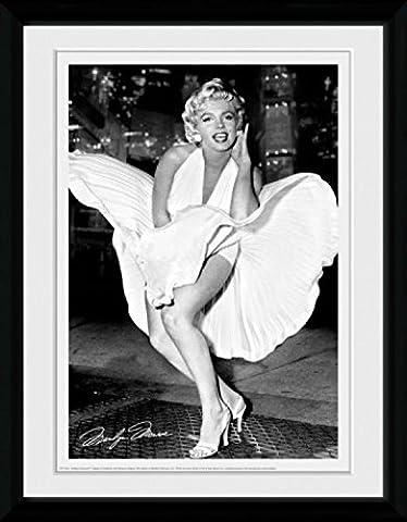 1art1 79809 Marilyn Monroe - Times Square Gerahmtes Poster Für Fans Und Sammler 40 x 30 cm