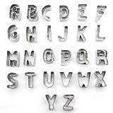 Yeplife Set di Taglierina per Frutta e Pasticceria - 26 Pezzi - Forma di Alfabeto Creativo Acciaio Inossidabile