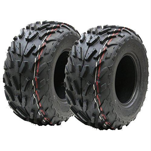Deux (paire) 16x8.00-7 pneus quad, 16 x 8-7 ATV E marqués route légale pneu 7 pouces