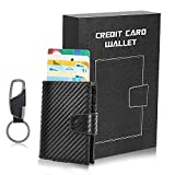 Card Wallet, Aluminium Case Credit Card Holders Minimalist Wallet, Pop-up Card Ejector RFID
