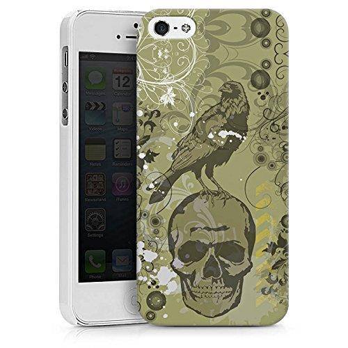 Apple iPhone X Silikon Hülle Case Schutzhülle Rabe Totenkopf Skull Hard Case weiß