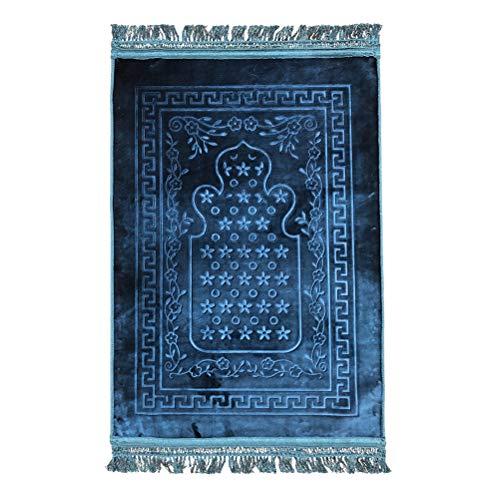 TAAMBAB Muslim Islamisch Pilgerfahrt Gebets Teppich - Türkisch Gebets Matte janamaz Sajadah Rutschfester Ramadan Eid Klassische Islam Prayer Carpet - Islam-teppich