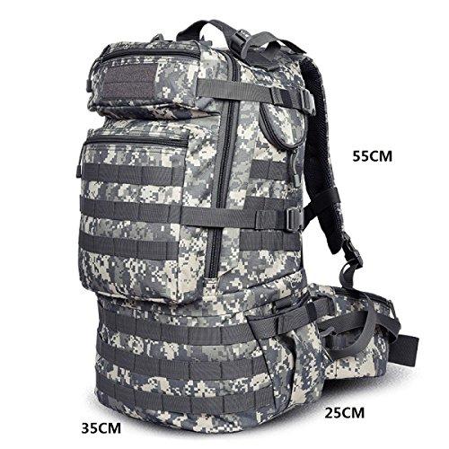 LQABW Outdoor-Multifunktionsberg Militär Abenteuer Wandern Klettern Rucksack Tasche Camouflage