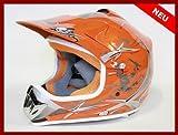 Helm Kinderhelm Motorradhelm Crosshelm Motocrosshelm Sport Orange L