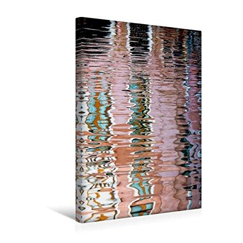 Calvendo Premium Textil-Leinwand 30 cm x 45 cm hoch, Venezianische Wasserreflexion 1 | Wandbild, Bild auf Keilrahmen, Fertigbild auf Echter Leinwand, Leinwanddruck Orte Orte