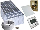 Trockenbau Fußbodenheizung Warmwasser, Sani-DRY Komplettsystem 5m² oder 10m² mit Verbundrohr 16x2mm und RTL E-Regelbox Digital, Fläche:5 qm