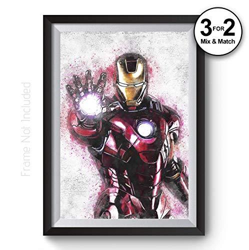 Iron Man Painting, Graffiti Aven...