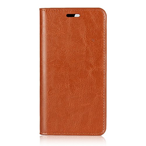 Huawei Nova 2 Plus Wallet Case, Happon [ Folio Style ] Premium Huawei Nova 2 Plus Card Cases Stand Feature for Huawei Nova 2 Plus [Light Brown ] Shell Flip Cover with Shell (Switch Light Custom)