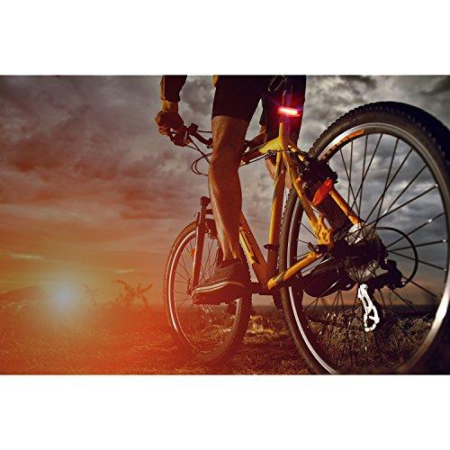 MACHFALLY Fahrradbeleuchtung, Fahrrad Licht LED USB Set mit Automatisch Einstellbarer Helligkeit, Wasserdichte Fahrradlampen inkl. Frontlicht und Ruecklicht , 1200 mAh Akku-Fahrradlampen fuer Kinder- , Herren- und Damenraeder (Frontlicht&Ruecklicht Set) - 3