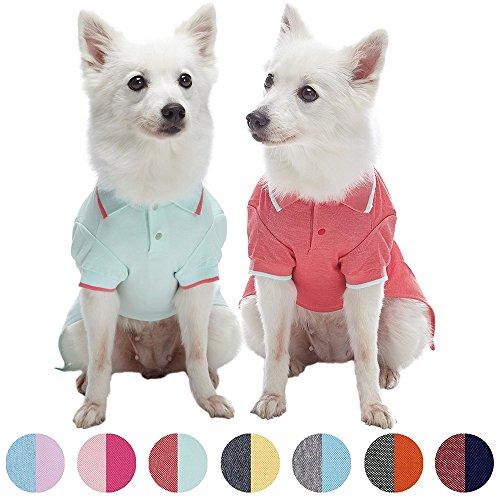 Blueberry Pet Juego de 2suave y cómoda Tejido esponja rosa país de las maravillas Hacedor dormir y se amuser pijamas para perro & T Shirt Camiseta de tirantes