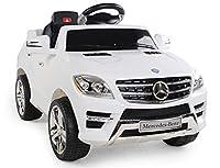 Auto elettrica per bambini MERCEDES-BENZ ML 350 SUV Scala 1:4 con licenza ufficiale. Può trasportare bambini fino a 20 Kg di peso. Marcia avanti e marcia indietro,ma la particolarità che fa unica questa auto è il radiocomando 2.4G SOFT START. Potrete...