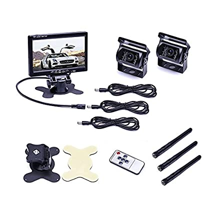 podofo-Wireless-Backup-Kamera-System-Rckfahrkameras-IR-Nachtsicht-wasserdicht-RV-fr-Fahrzeuge-Keine-Distanzfhrung-Wireless-Backup-Kamera
